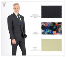 Load image into Gallery viewer, Charcoal Grey and Gol Stripe Suit - BTS-13-31
