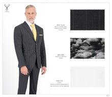 Load image into Gallery viewer, Medium Grey Stripe Suit - BTS-13-34 (Peak Lapel)