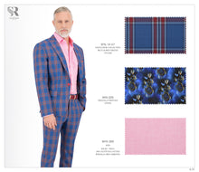 Load image into Gallery viewer, Blue and Red Checks Suit - BTS-12-07 (Peak Lapel)