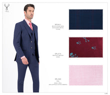 Load image into Gallery viewer, Blue and Red Checks Suit - Peak Lapel - BTS-811