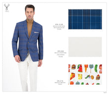 Load image into Gallery viewer, Blue and Rust Plaid Suit - BTS-10-29