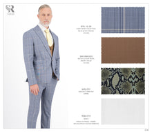 Load image into Gallery viewer, Blue and Tan Checks - Peak Lapel - BTS-12-39