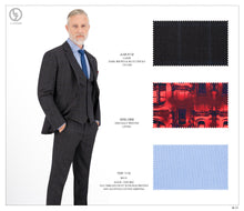 Load image into Gallery viewer, Dark Brown & Blue Checks Suit JLM-512