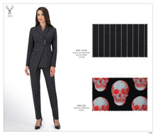 Load image into Gallery viewer, > Shape 2 Button Black Stripe Suit - BTS-13-50