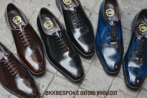 502-2 New Oxford Wholecut Italian Blue Shoes
