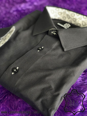 Black Bird Eyes Shirt - ICIC - Silver Quality