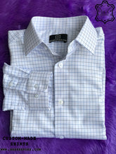 Load image into Gallery viewer, Blue-Black Checkered Shirt - Gold Quality