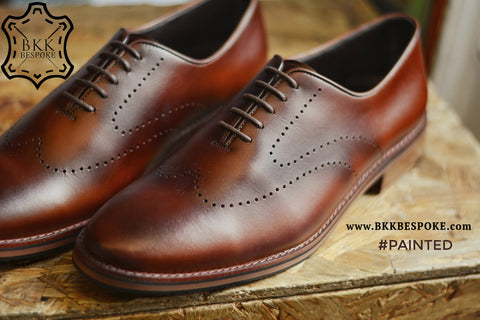 New Oxford Brogue Shoes ( Painted )