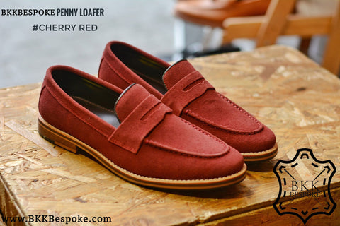 Penny Loafer Suede x Cherry