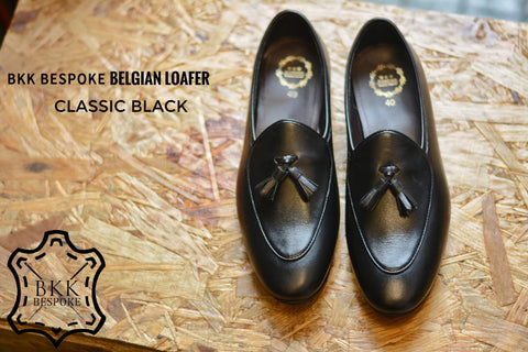 Belgian Loafer X Tassels Suede Classic Black