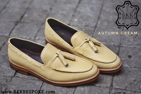 505 Tassel Loafer Cream - Wooden Sole