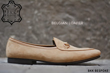 Load image into Gallery viewer, Belgian Loafer X Horsebit Suede Cream