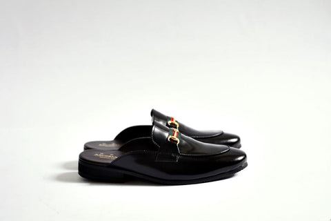 701-1 Slipper Black with Straps