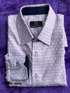 Dark Pink-Blue Cube Shirt with Dark Blue ICIC - Silver Quality