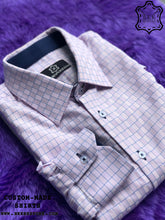 Load image into Gallery viewer, Dark Pink-Blue Cube Shirt with Dark Blue ICIC - Silver Quality