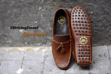 Load image into Gallery viewer, 823-2 Driving Loafer Caramel Tassel