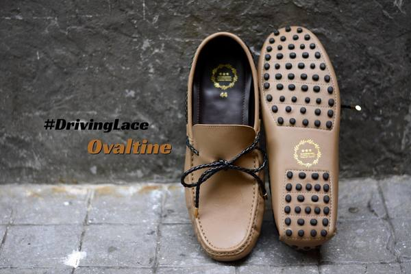 823-2 Driving Loafer Ovaltine with Plait Lace