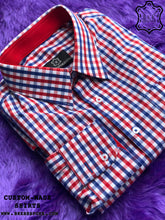 Load image into Gallery viewer, Famous Red-Blue Checkered Shirt with Red ICIC - Silver Quality