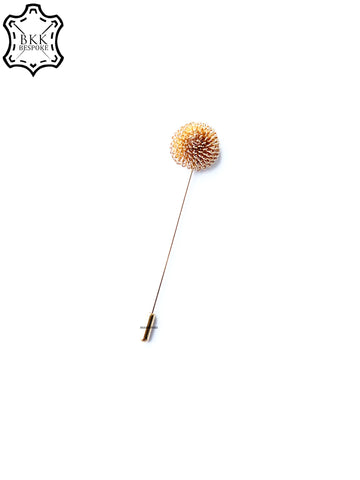 Gold Flower Lapel Pin
