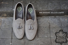 Load image into Gallery viewer, Belgian Loafer X Tassels Suede Grey