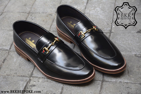 702 Horsebit Loafer X Piano Black-Wooden