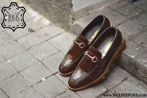 702 Horsebit Loafer X Burgundy-Wooden