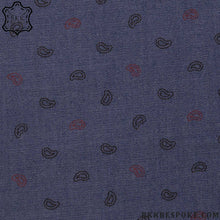 Load image into Gallery viewer, Polka Paisley Blue Shirt
