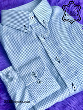 Load image into Gallery viewer, Black Checkered White Base Shirt - Button Down