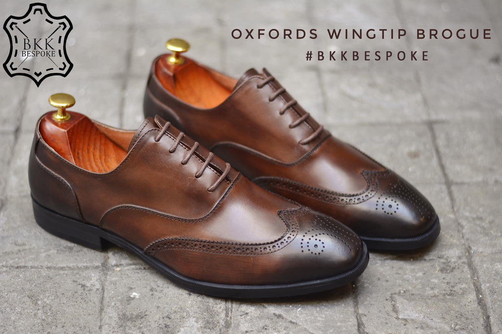 507-1 Brogue Painted Shoe Brown