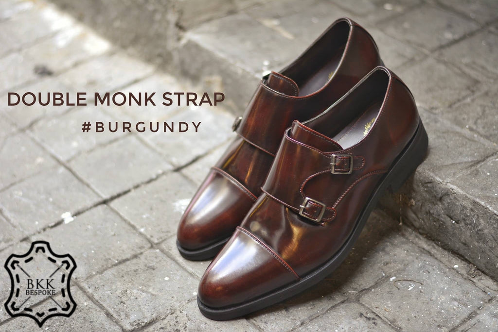 504-1 Double Monk Strap Burgundy