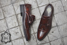 Load image into Gallery viewer, 504-1 Double Monk Strap Burgundy