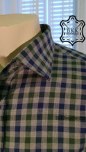 Load image into Gallery viewer, Blue-Green-Grey Checkered Shirt