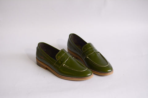 509 Penny Loafer Green