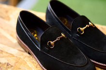 Load image into Gallery viewer, 702 Horsebit Loafer X Suede Black