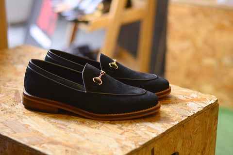 702 Horsebit Loafer X Suede Black