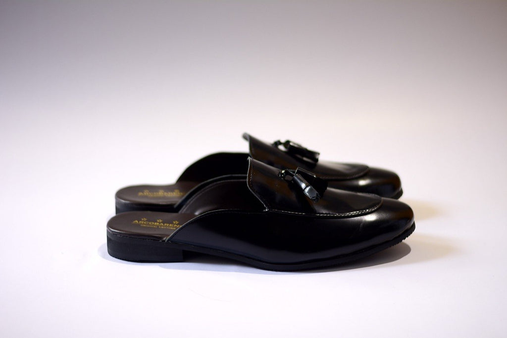 701-2 Slipper Black with Tassels