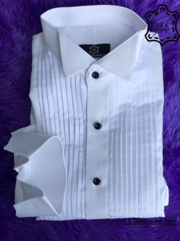 Tuxedo White Self-Design Small Checkered