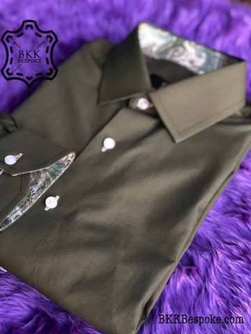 The Elegant Pickle Green with Green Paisley ICIC