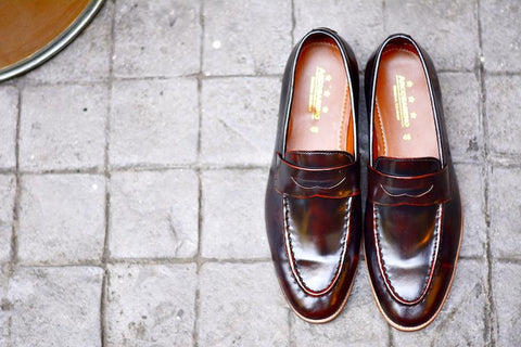 509 Penny Loafer Burgundy + Wooden