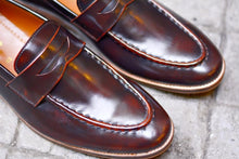 Load image into Gallery viewer, 509 Penny Loafer Burgundy + Wooden