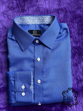 Load image into Gallery viewer, Solid Blue DK Shirt - ICIC - Silver Quality