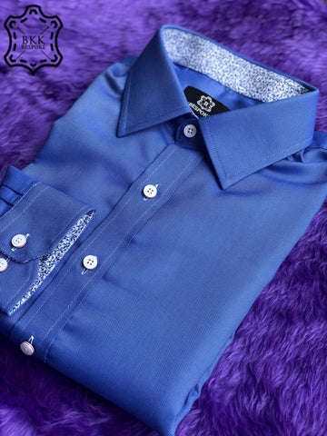 Solid Blue DK Shirt - ICIC - Silver Quality