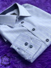 Load image into Gallery viewer, Checkered Blue-Light Green Shirt - Silver Quality