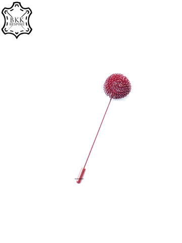 Maroon Flower Lapels Pin