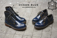 Load image into Gallery viewer, 500 Derby Shoe - Ocean Blue - Hi-Cut