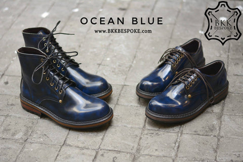 500 Derby Shoe - Ocean Blue
