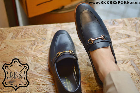 702 Horsebit Loafer X Oiled Blue - Wooden Sole