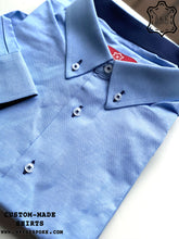 Load image into Gallery viewer, Oxford Light Blue Shirt - Dark Blue ICIC - Silver Quality