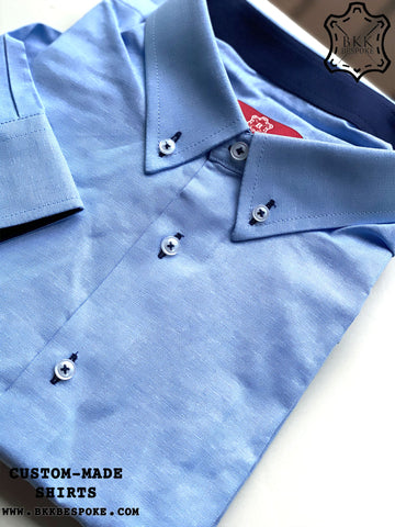 Oxford Light Blue Shirt - Dark Blue ICIC - Silver Quality