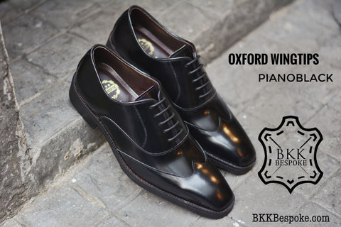 502-1 New Oxford Shoes Wingtip Black